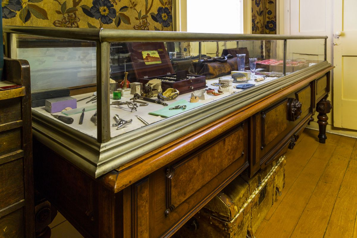 many items on display in the Relic Room at the Clinton County History Center