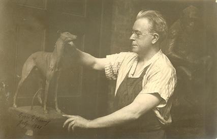 portrait Eli Harvey, artist and sculptor, Clinton County History Center Wilmington Ohio